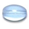 Glass Bead Oval 14x7mm Light Sapphire - Strung
